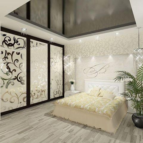 Дизайн потолков у спальне фото